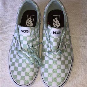 Vans Doheny Glitter green Women's Shoes Sz 9.5🌿